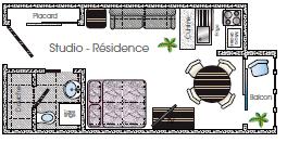 Plan Studio Résidence Thermale