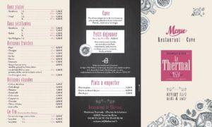 restaurant menu apéritif