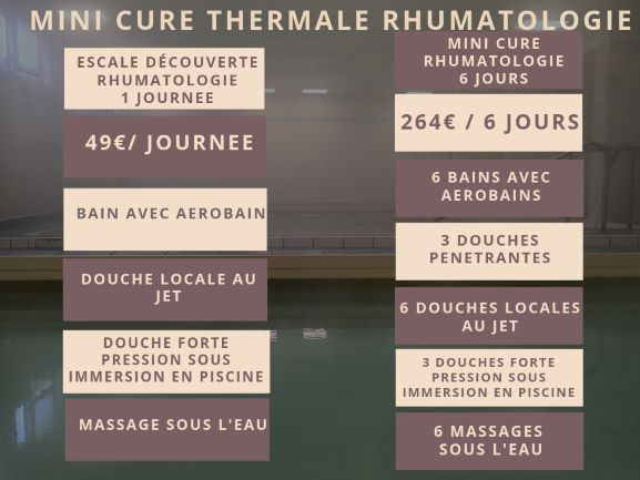 MiNI CURE THERMALE RHUMATOLOGIE thermes vernet les bains