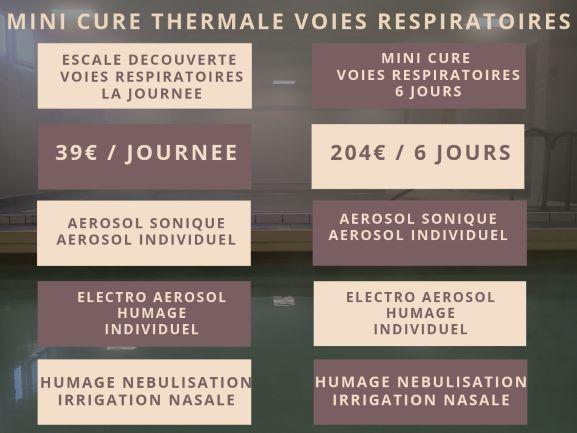 MiNI CURE THERMALE Voies Respiratoires thermes vernet les bains