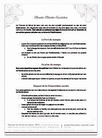 Charte sanitaire curistes Thermes de Vernet les Bains